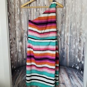 LONDON TIMES ONE SHOULDER DRESS SIZE 16 NWT